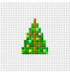 pixel art christmas tree vector image