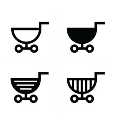 shopping cart icons semicircle style vector image vector image