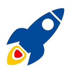 Space rocket flat icon vector