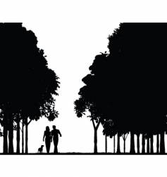 woodland walk vector image vector image