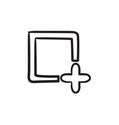 Add file sketch icon vector