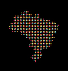 Brazil color dot map Abstract style vector image vector image