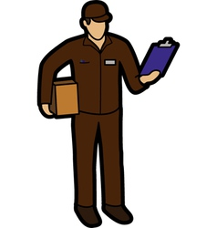 Courier man vector image