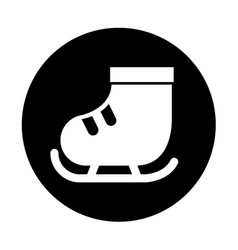 Cute round icon ice skate vector