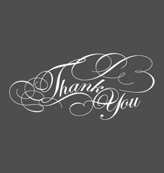 decorative Thank You Greeting typography vector image vector image
