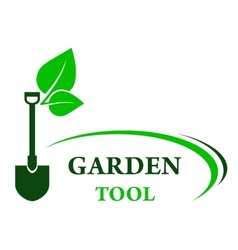 garden background with shovel vector image vector image
