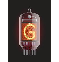 Nixie tube indicator vector image vector image