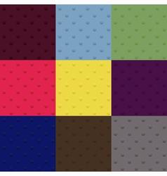 Set of seamless polka dot patterns vector image