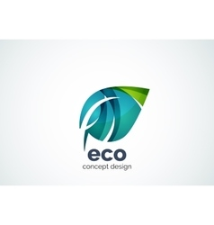Abstract business company leaf logo template vector image