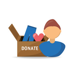 Clothes donation support to charity of the people vector