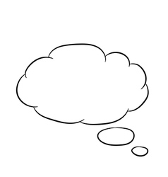 Cloud thought fly white of vector image vector image