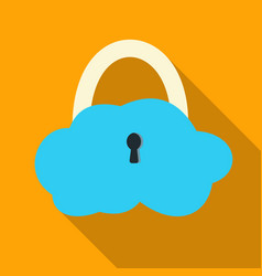 data cloud security icon in flat style isolated on vector image vector image