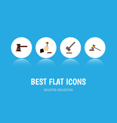 flat icon court set of court government building vector image vector image