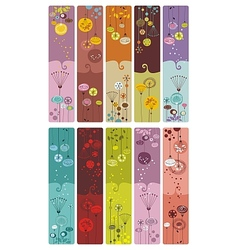 Floral Bookmarks vector image vector image