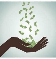 hand catch the money vector image
