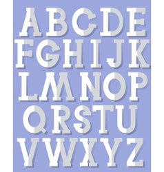 Paper alphabet vector image vector image