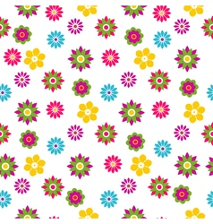 Seamless floral motley spring pattern vector image vector image
