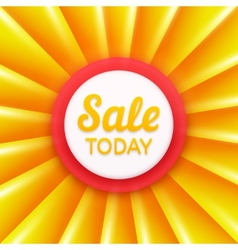 Sale today design template banner vector image vector image