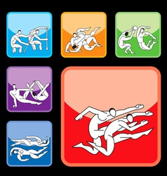 sport buttons set03 vector image vector image