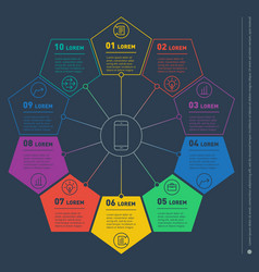 web template of a circle chart diagram or vector image vector image
