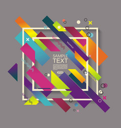 abstract geometric background with white frame vector image