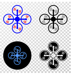 Air copter eps icon with contour version vector