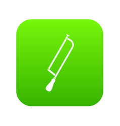 Amputation and surgical saw icon digital green vector