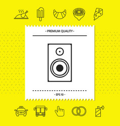 Audio speaker icon graphic elements for your vector
