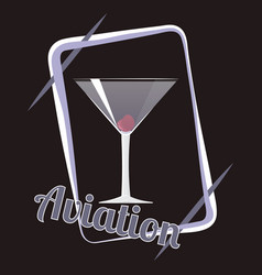 aviation cocktail vector image
