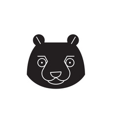 beaver head black concept icon beaver head vector image
