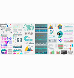 big set infographics elements vector image