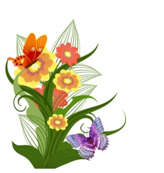 bouquet of bright flowers vector image