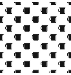 Camp cup pattern seamless vector