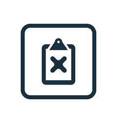 Cancel icon Rounded squares button vector
