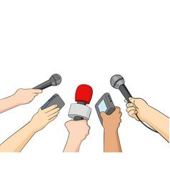 cartoon of journalists vector image