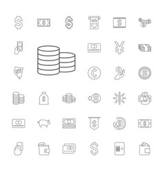 Cash icons vector