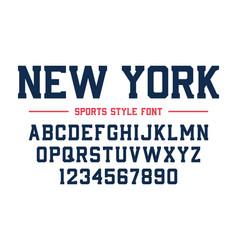 Classic college font vintage sport serif font vector