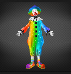 Clown in circus party man funny jester character vector