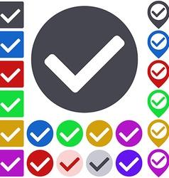 Color tick icon set vector image