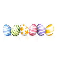 Colored eggs for Easter vector image
