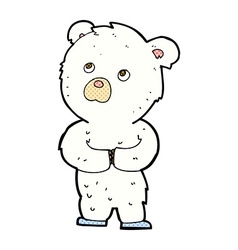 comic cartoon polar bear cub vector image