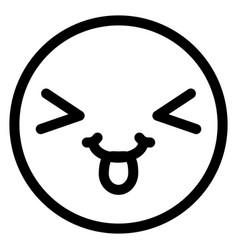 crazy face emoticon with tongue vector image