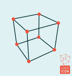 cube icon isolated vector image