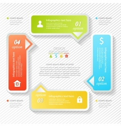 Design business infographics four successive vector image