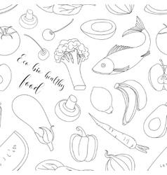 Eco bio healthy food pattern vector
