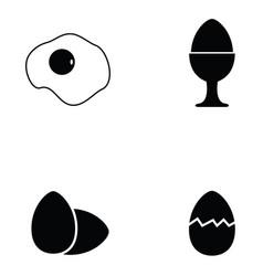 egg icon set vector image