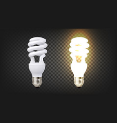 Energy efficiency fluorescent lamp cfl vector