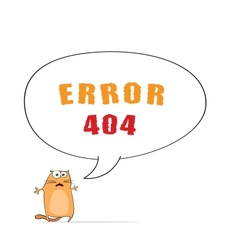 Error 404 with cat vector