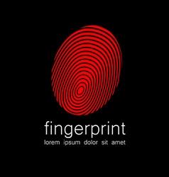 Fingerprint logo vector