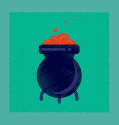 flat shading style icon cauldron witches potion vector image